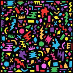 80s 90s Abstract Pattern Design /// www.art-by-ken.com