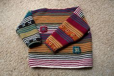 I'm Jealous of a Kid's Sweater … Knitting Perfection! : I'm Jealous of a Kid's Sweater … Knitting Perfection! Baby Knitting Patterns, Knitting Blogs, Knitting For Kids, Knitting Projects, Hand Knitting, Knit Baby Dress, Moda Emo, Baby Kind, Free Baby Stuff