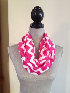 Chevron Microfleece Infinity Scarf in Pink: $15.00   This scarf is made from a microfleece that feels very light and soft against your skin. Your Skin, Chevron, Infinity, Feels, Pink, Fashion, Moda, La Mode, Fasion