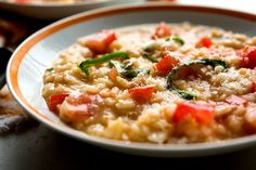 Tomato and Basil Risotto - MUST be tomato season, otherwise deliciousness will be ruined