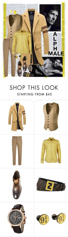 """Alpha Male"" by scope-stilettos ❤ liked on Polyvore featuring Joseph, Luchino Camicie, John Varvatos, Stührling, Cufflinks, Inc., Sunny Rebel, men's fashion and menswear"