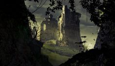 An abandoned castle, Jade Kwon on ArtStation at https://www.artstation.com/artwork/an-abandoned-castle