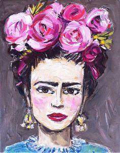 Frida Kahlo Painting on Etsy, $250.00