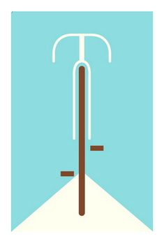 bicycle (blue): part of poster cabaret's 2010 bicycle print set