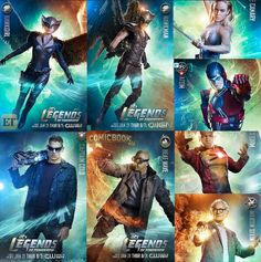 DC'S Legends Of Tomorrow posters