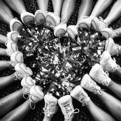 My cheer team did this! It is such a cute cheer photo idea! Cheer Camp, Football Cheer, Cheer Coaches, Cheer Dance, Varsity Cheer, Basketball Cheers, Team Cheer, Coaches Wife, Cheer Athletics