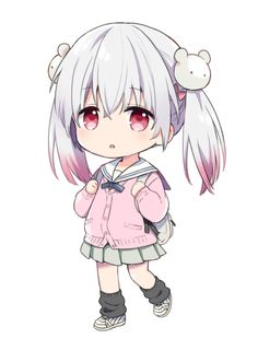 Anime picture original kona (canaria) long hair single tall image looking at viewer 617603 en Chibi Boy, Cute Anime Chibi, Anime Girl Cute, Anime Neko, Kawaii Anime Girl, Anime Art Girl, Anime Girls, Chibi Girl Drawings, Kawaii Drawings