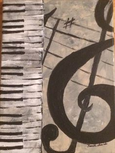"""Acrylics on canvas, entitled """"Melodies"""" sold at Frames for Futures: Art Exhibit and Silent Auction"""