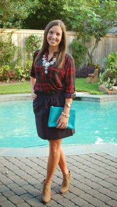 Champagneista: Plaid and Sparkles