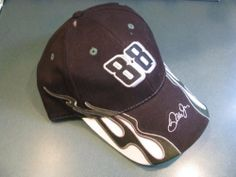Dale Earnhardt Jr #88 Hendrick Motorsports NASCAR Authentic Black With White & Green Streaming Accents Effect Hat Cap Sharp Looking!! One Size Fits Most OSFM Velcro Strap by NASCAR. $19.99. Dale Earnhardt Jr #88 Hendrick Motorsports NASCAR Authentic Black With White & Green Streaming Accents Effect Hat Cap Sharp Looking!! One Size Fits Most OSFM Velcro Strap....see the photo image for a great looking hat...