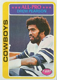Drew Pearson / Dallas Cowboys / Hall Of Fame Dallas Cowboys Images, Dallas Cowboys Players, Dallas Cowboys Football, Football Players, School Football, Cowboy History, How Bout Them Cowboys, Cow Boys, Football Cards