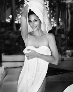 Today's wardrobe (or lack thereof?) is inspired by #CindyCrawford.  Happy birthday to the legendary super model! #Repost @meaningfulbeauty : @MarioTestino #TowelSeries  via ALLURE MAGAZINE OFFICIAL INSTAGRAM - Fashion Campaigns  Haute Couture  Advertising  Editorial Photography  Magazine Cover Designs  Supermodels  Runway Models