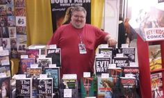 Me at my #DragonCon2016 table yesterday. Photo courtesy of my buddy, author Milton Davis. You should totally check out his work.