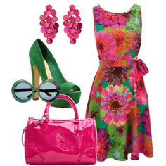 """Experimenting - Bright Spring"" by lizzycb on Polyvore"