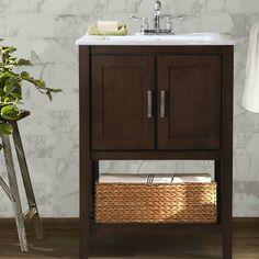 Aberdeen 24 Single Vanity From Home Decorators Small Bathroom Ideas Pinterest Single