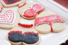 Lingerie cookies for husband for Valentine's Day, or for Girl's night Lingerie Gift Exchange Party!