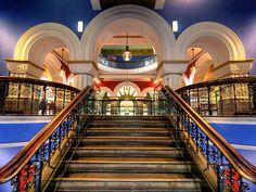 Stairway inside Queen Victoria Building Sydney Australia