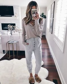 😉 I carried this pair to the airport instead of jeans and was so glad I did.it # outfit Cute Lazy Outfits, Sporty Outfits, Mom Outfits, College Outfits, Trendy Outfits, Fall Outfits, Fashion Outfits, Cute Lounge Outfits, Fashion Styles