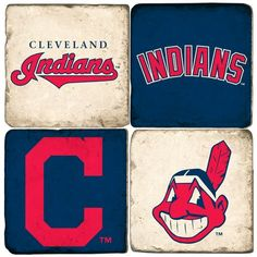 Cleveland Indians-Hand made Marble coasters