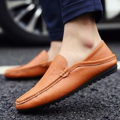 JACKSHIBO 2016 men boat shoes loafers,Slip on men flats shoes PU leather,Moccasin Chaussure homme,Designer slipony men shoes Leather Moccasins, Leather Loafers, Leather Men, Loafers Men, Loafer Shoes, Men's Shoes, Shoe Boots, Flats, Formal Shoes For Men