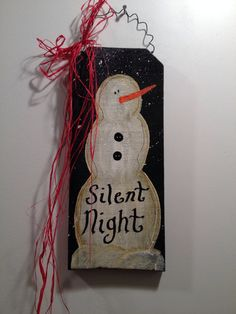 Silent night snowman by Chessyflowers on Etsy