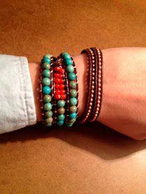 south moon under: Beaded Wrap Bracelet DIY