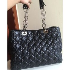 Fast sale! Dior Tote Bag in Black Lamb 2014With dustbag and card butiq stamp14.5jt