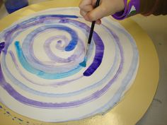 spiral painting with the lazy susan! Original idea from small hands big art