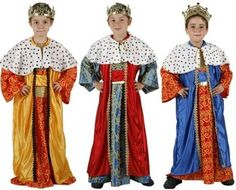 Disfraz casero de Rey Mago para niños: cómo hacerlo paso a paso [FOTOS] Kings Day, Fancy Dress, Christmas Sweaters, Sari, Halloween, Celebrities, Diy, Stuff To Buy, Costumes
