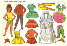 when i was kid Reference Paper, Photo Reference, First Communion Invitations, Paper People, All Paper, Vintage Paper Dolls, Just For Fun, Doll Accessories, Doll Clothes