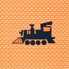 Modern Children's Paper Wall Art  Choo Choo Train (can be personalized!) by KidliciousDesigns