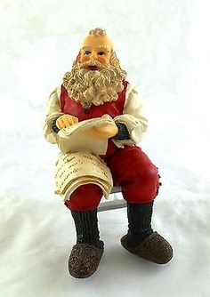 Dolls House Miniature 1:12 People Resin Figure Father Christmas Santa Claus | Melody Jane Dolls Houses