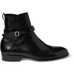 Alexander McQueen Leather Buckle Boots | MR PORTER