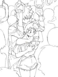 Boku no Hero Academia: Katsuki Bakugou x Izuku Midoriya (Female Version)