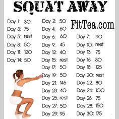 I started my first day of 'Squat Away' and knocked out 30 squats.