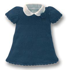 Just beautiful - Use Bing translator Knitting For Kids, Baby Knitting, Crochet Baby, Knit Crochet, Little Girl Dresses, Girls Dresses, Tricot Baby, Pull Bebe, Knit Baby Dress