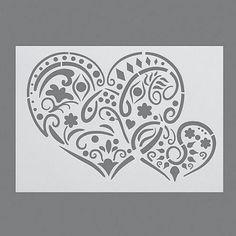Stencils, Pochoir de Coeurs/1 pièces universelle, DIN A 4: Amazon.fr: Cuisine…