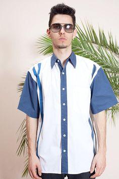 e53d98e3d7 Vintage hip hop shirt •Button down shirt •90s hip hop clothing•Short sleeve  shirt•Swag shirt•Button up shirt•Hipster shirt•Retro 90s shirt