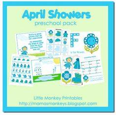 April Showers Preschool Pack