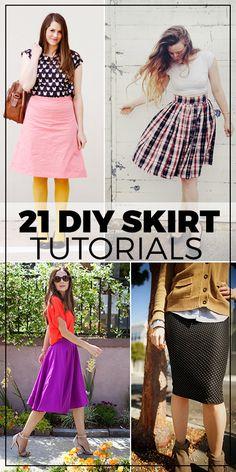 21 DIY Skirt Tutorials(Diy Clothes For Women)