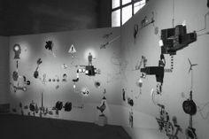 Mécaniques Discursives at Mira Festival / October 2013 / Barcelona / ES #MecaniquesDiscursive #FredPenelle #YannickJacquet #VideoMapping #woodcut