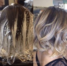 Ombre Brown to Blonde Short-Medium Haircut Hairstyle Bleaching
