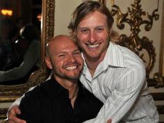 Aww... They love each other!  #Cody Ross #Mike Fontenot