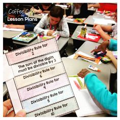 Interactive Notebook foldales for key vocab.  Love the video and prime numbers lesson!