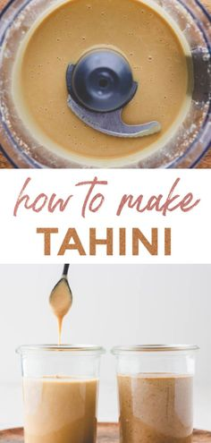 With this recipe, you can make tahini paste at home! I will show you two ways to make homemade tahini paste which you can use as a basic ingredient for many recipes. Vegan Recipes Easy, Veggie Recipes, Gourmet Recipes, Cooking Recipes, Cooking Tips, Tahini Dip, Tahini Paste, Homemade Tahini, Homemade Sauce