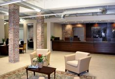 Bank Lobby Reno lounge in lobby/reception area. #NationalOffice #FurnitureWithPersonality