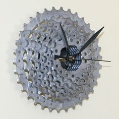 bicycle part clocks | CLOCK Bicycle Part Gear Clock by stevenshaverdesigns on Etsy