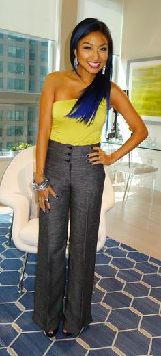 I love Jeannie Mai's hair. I'd love to do something similar to this!