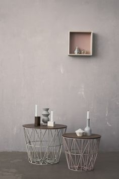 Ferm Living – naturligt design i landlig stil - detydre. Wire Side Table, Living Colors, Iron Coffee Table, Coffee Tables, Wire Baskets, Deco Design, My New Room, House Colors, Home And Living