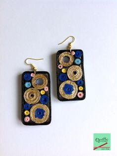 """Earrings """"Frammenti_03"""" a paper jewel by QuillyPaperDesign"""